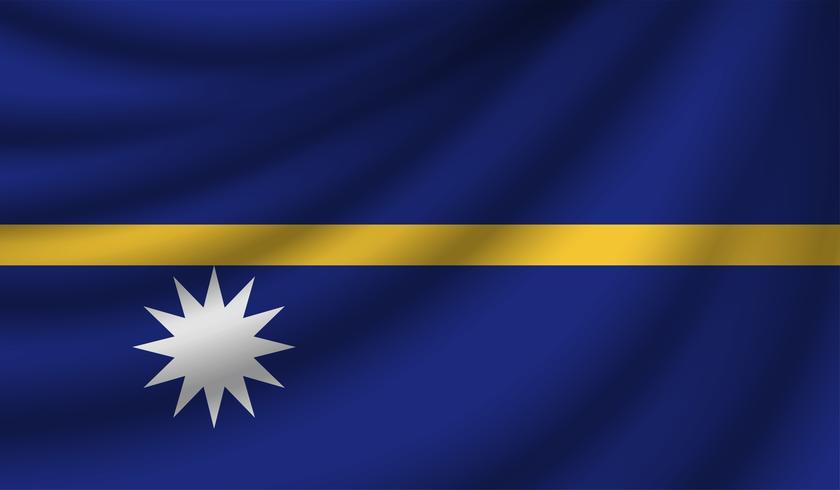 Bandeira realista, ilustração vetorial vetor