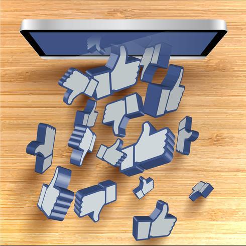 Vector fundo 3d como com tela