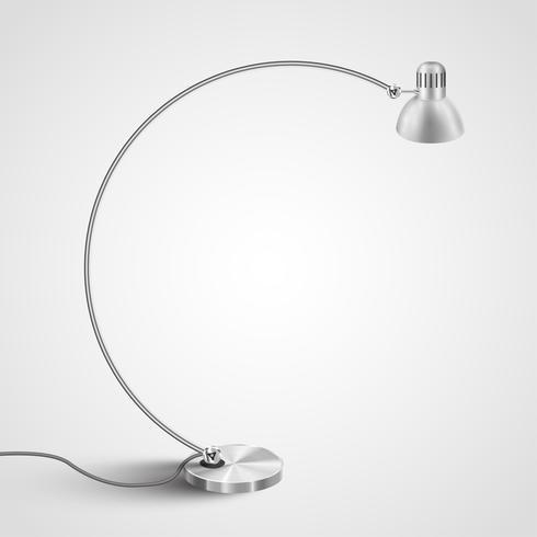 Lâmpada de design para interiores, vetor