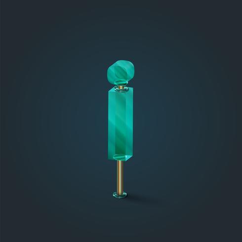 Personagem feita por vidro, vetor