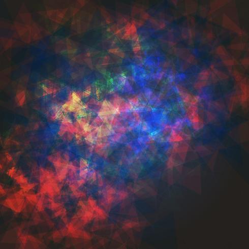 Abstrato colorido poligonal com pontos conectados e linhas, estrutura de conexão, fundo futurista hud, ilustração vetorial vetor