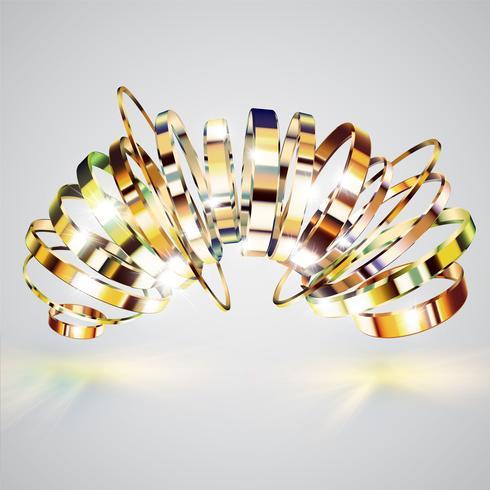 Anéis de ouro fundo, ilustração vetorial vetor