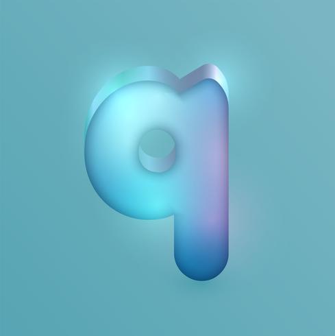 Personagem de néon realista 3D, vetor