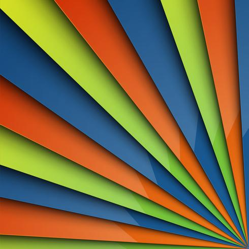 Fundo colorido abstrato em camadas, vetor