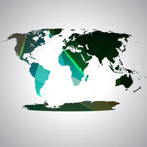 Mapa do mundo colorido, vetor