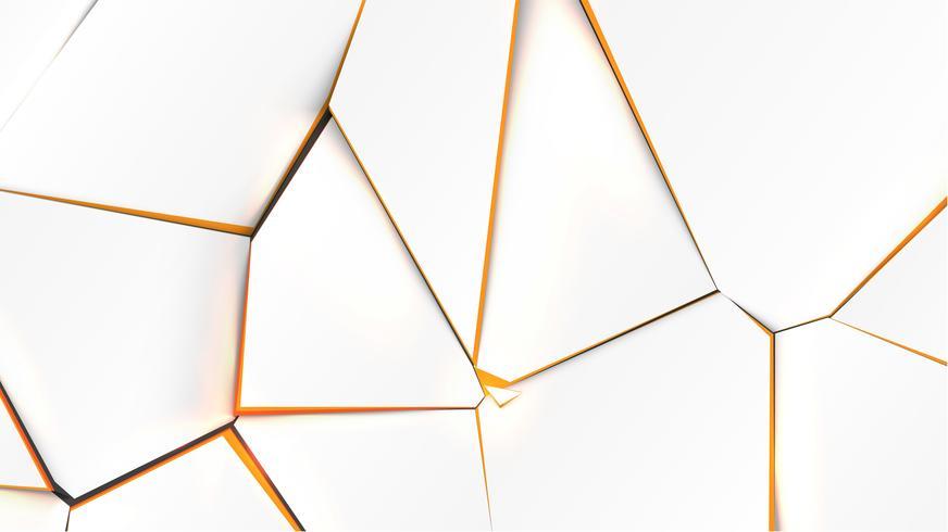 Superfície quebrada com cor laranja no interior, ilustração vetorial vetor