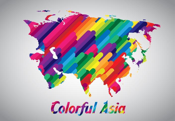 Vetor colorido Ásia