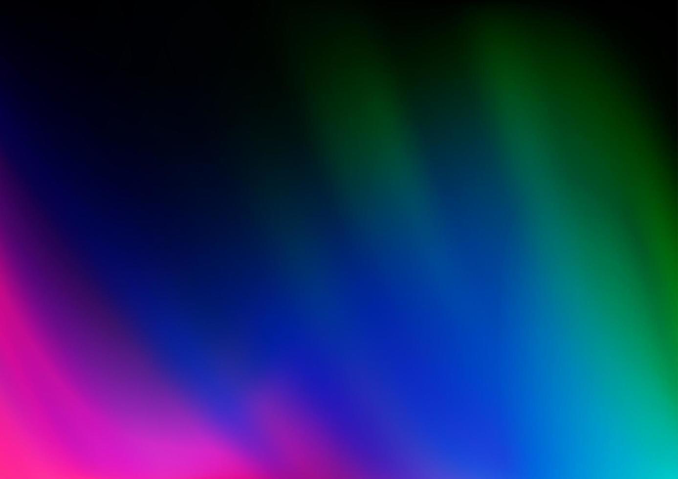 multicolor escuro, padrão de bokeh abstrato de vetor de arco-íris.