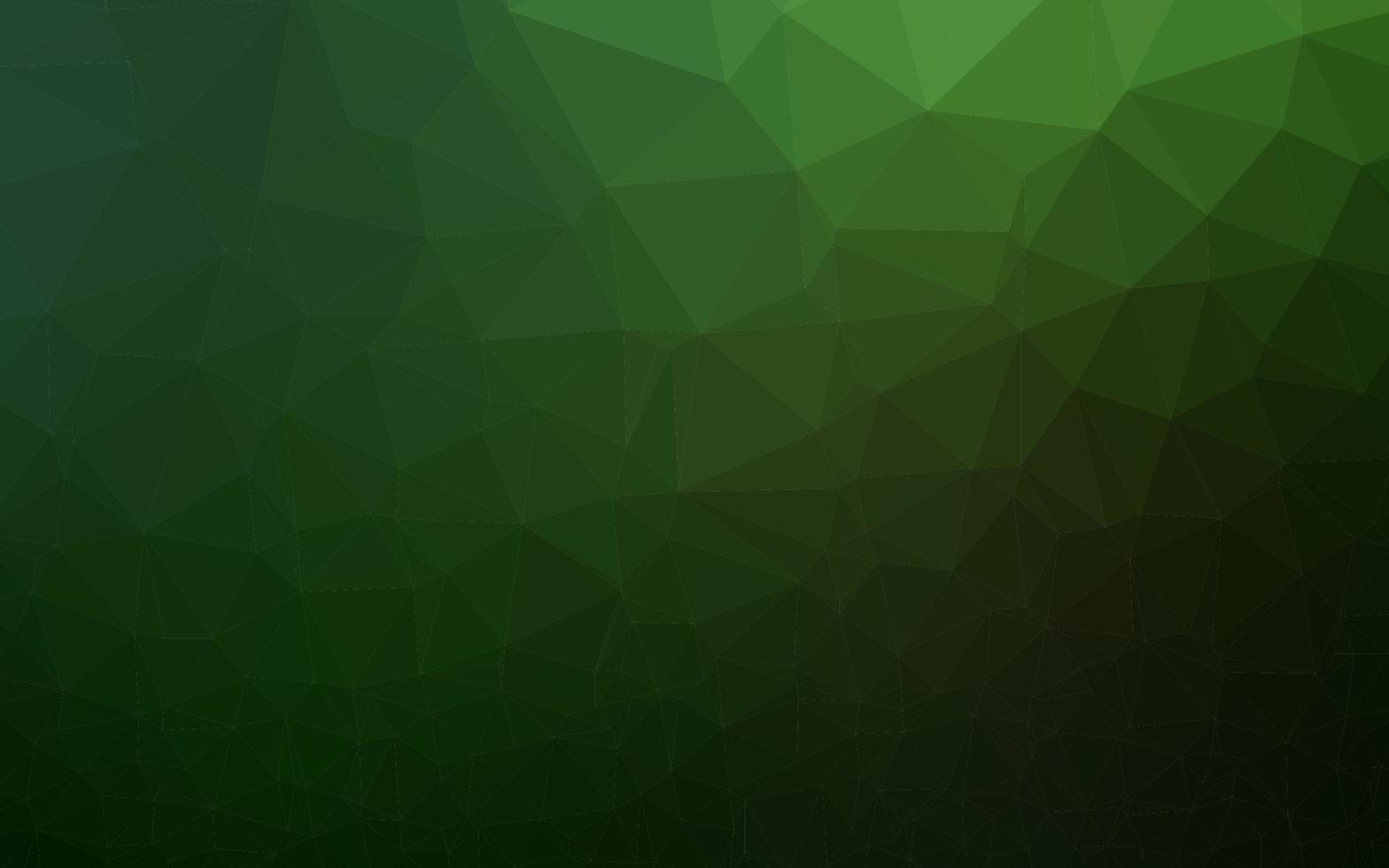 vetor verde escuro brilhante padrão triangular.