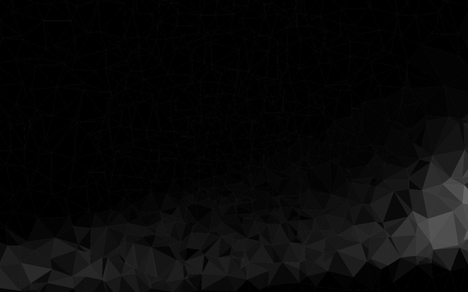 prata escura, textura poligonal abstrata de vetor cinza.
