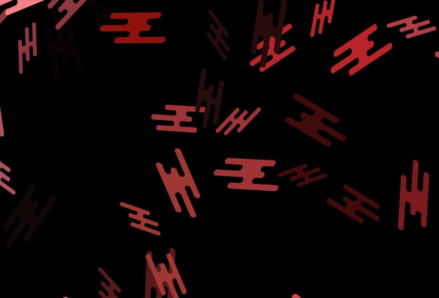 pano de fundo vector vermelho escuro com linhas longas.
