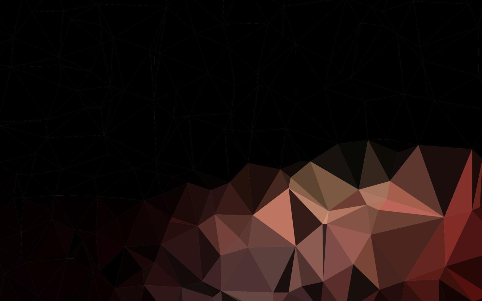 fundo abstrato do vetor polígono vermelho escuro.