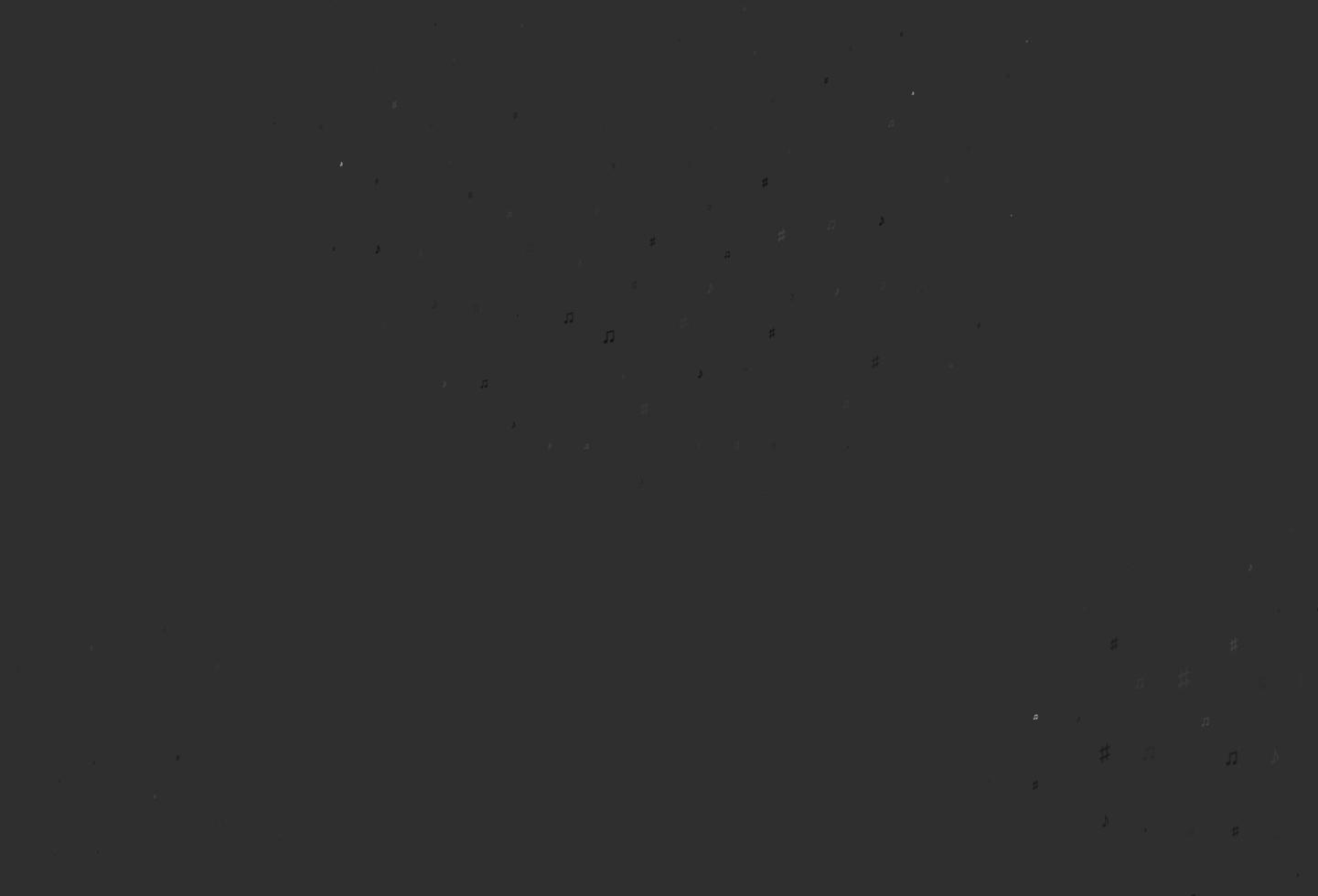 modelo de vetor cinza claro prata com símbolos musicais.