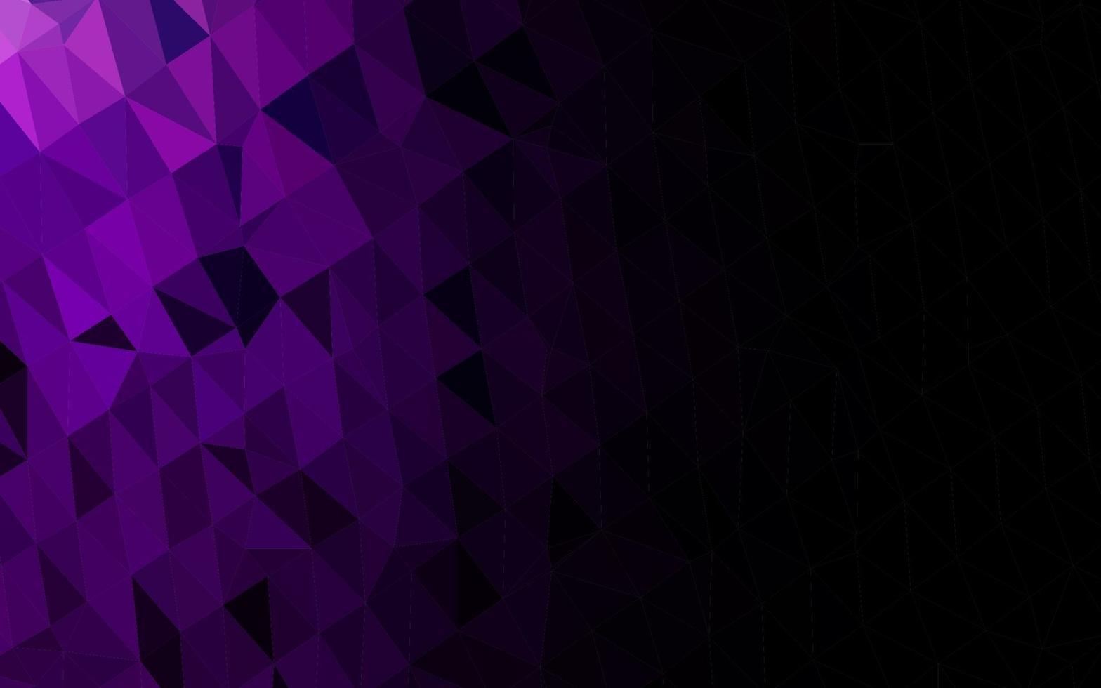 textura do mosaico do triângulo do vetor roxo escuro.