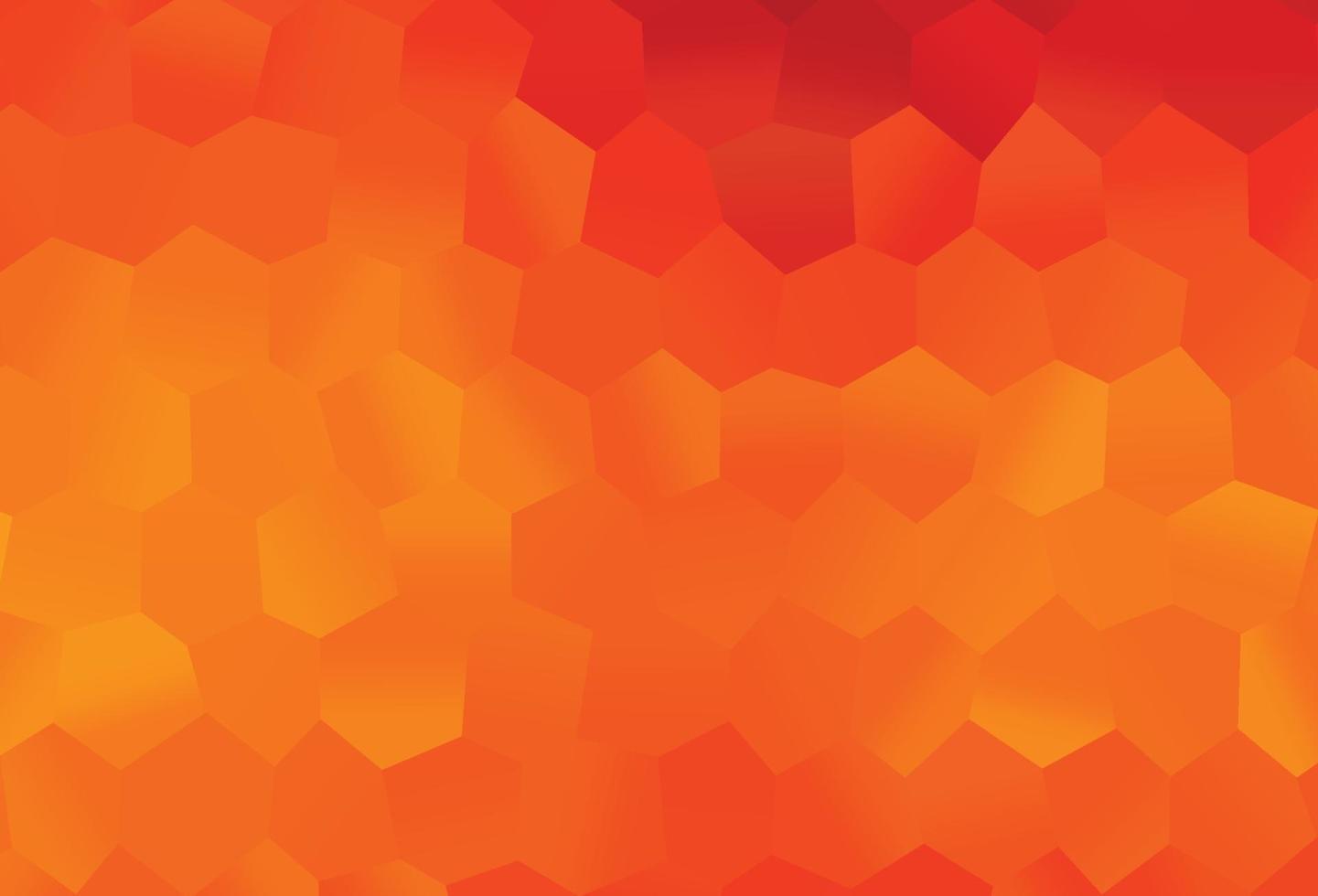 pano de fundo vector laranja claro com hexágonos.