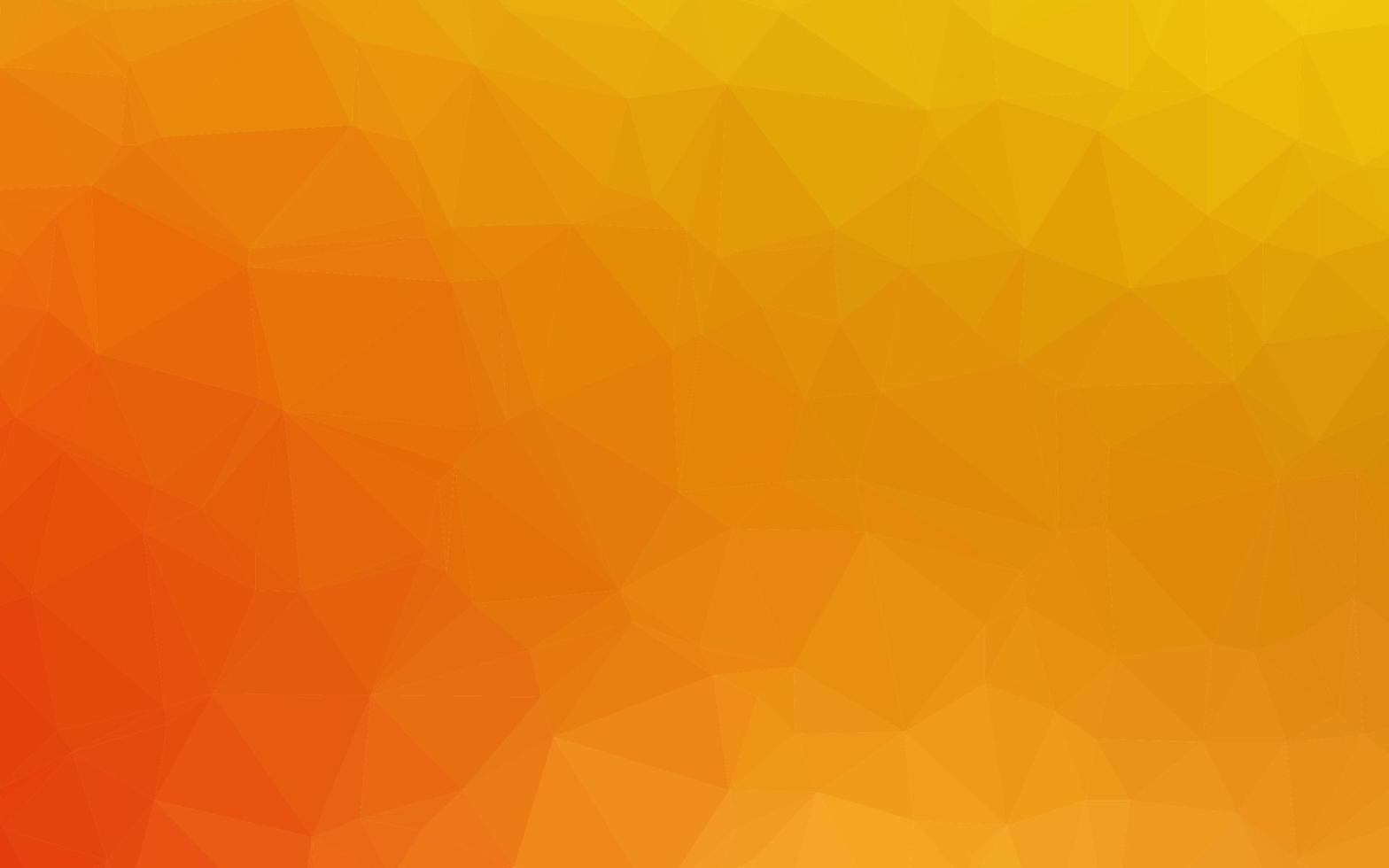 fundo abstrato do polígono do vetor amarelo e laranja claro.