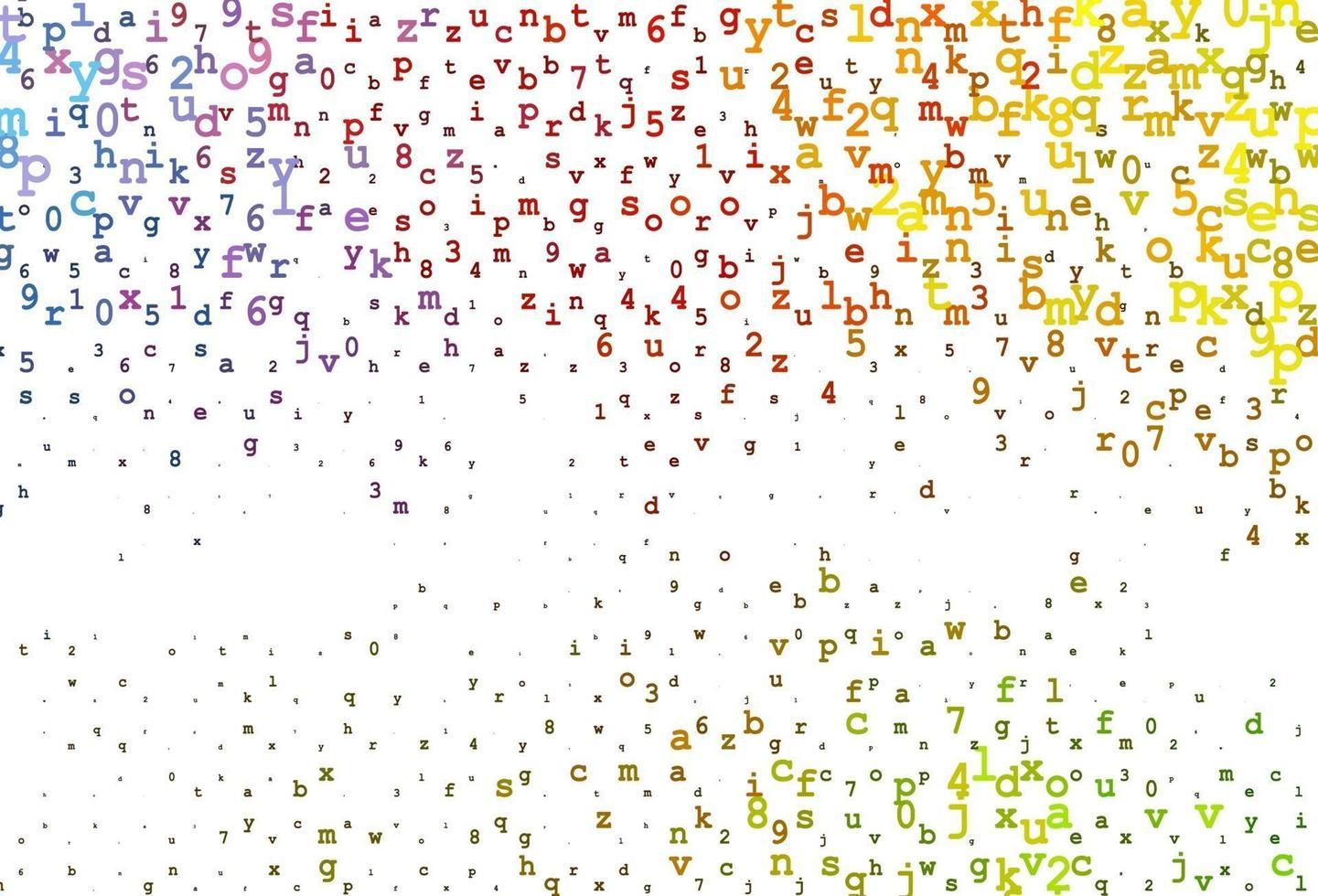 fundo vector rosa claro com sinais do alfabeto.