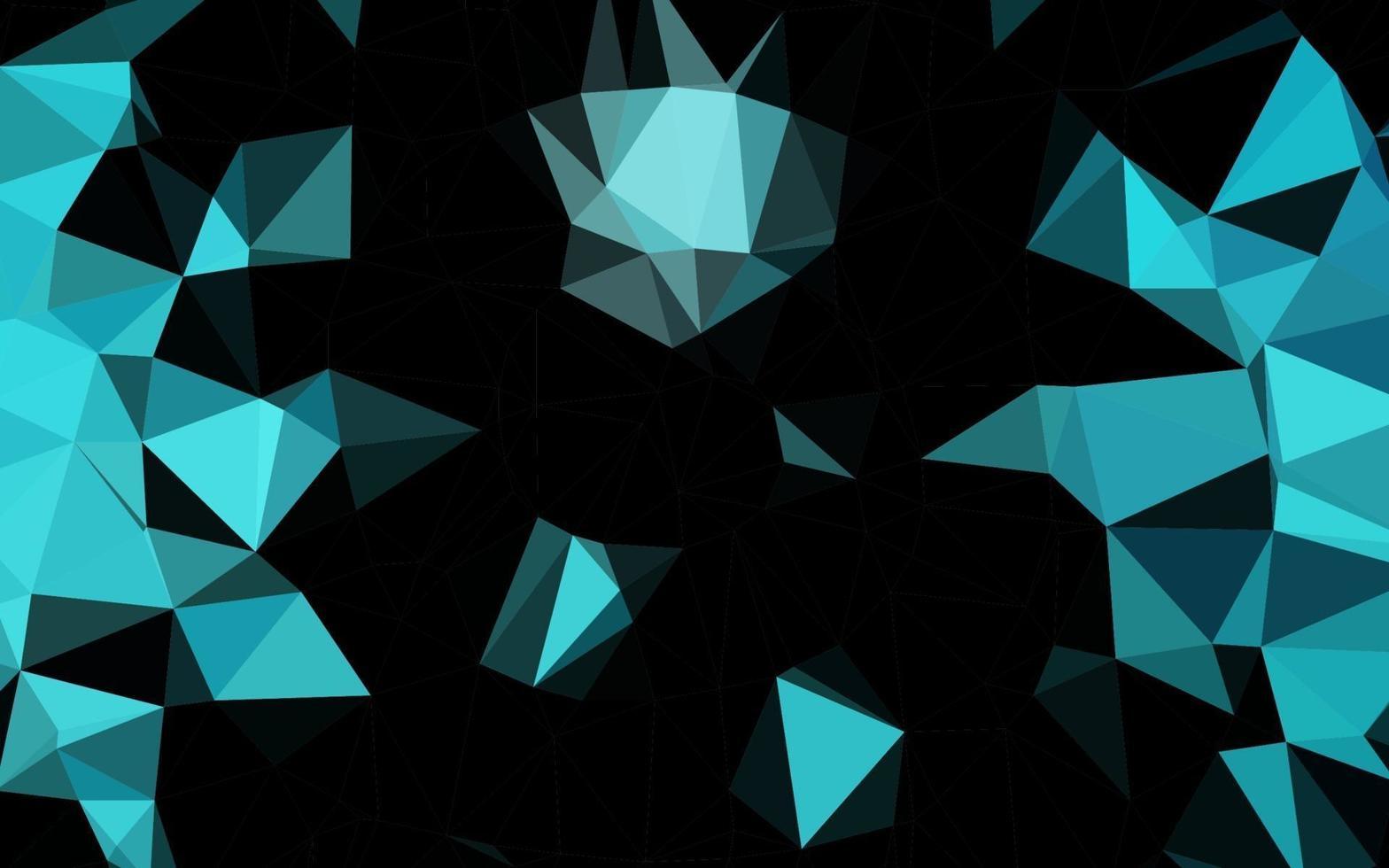 luz azul vetor brilhando fundo triangular.