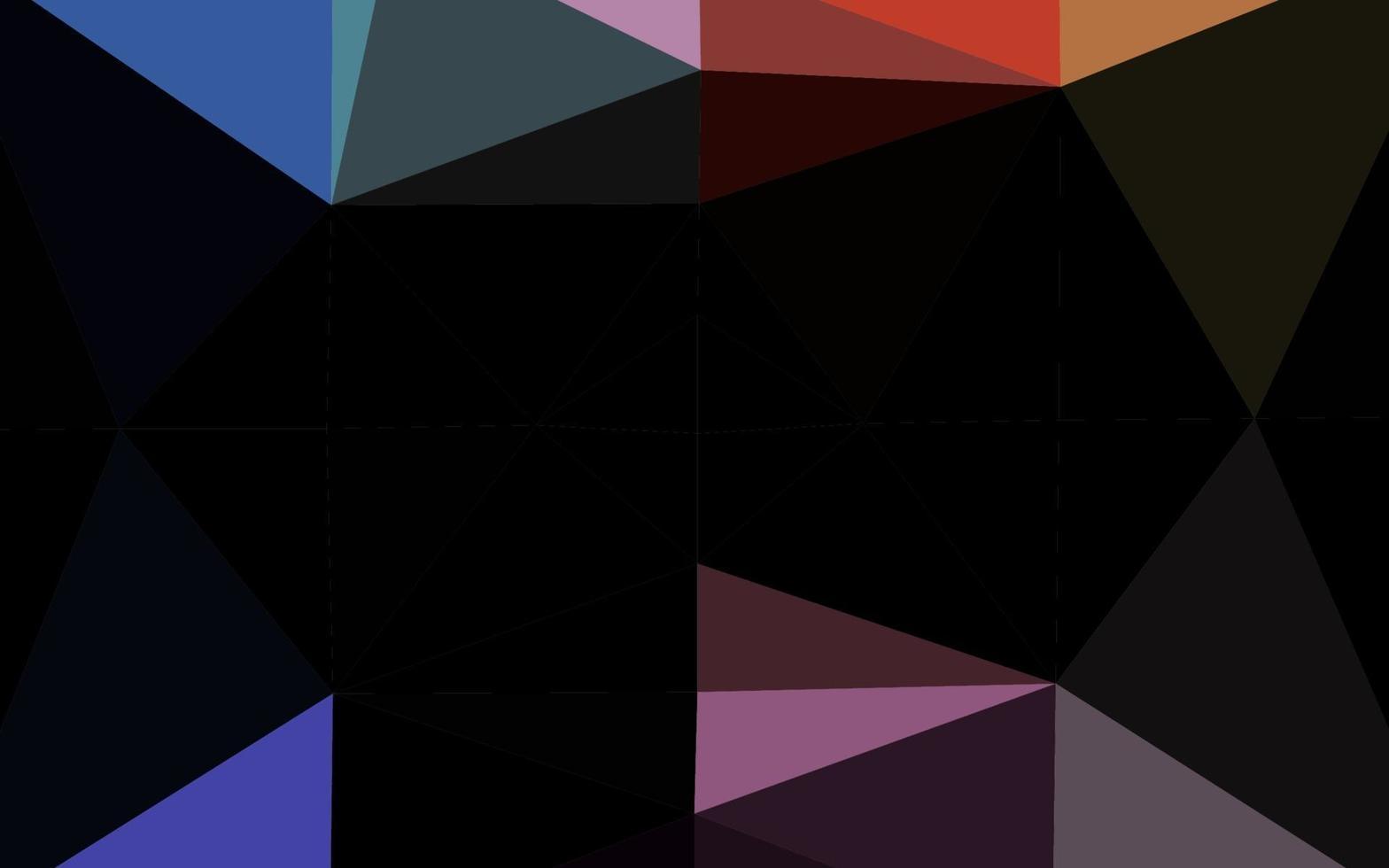 luz multicolor, padrão de triângulo embaçado de vetor de arco-íris.
