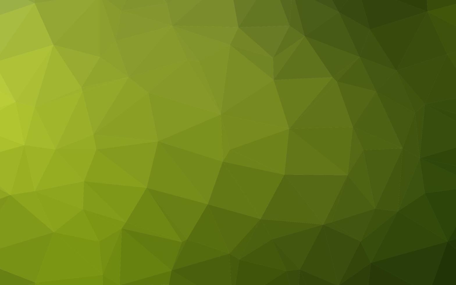 luz verde, amarelo abstrato do polígono do vetor. vetor