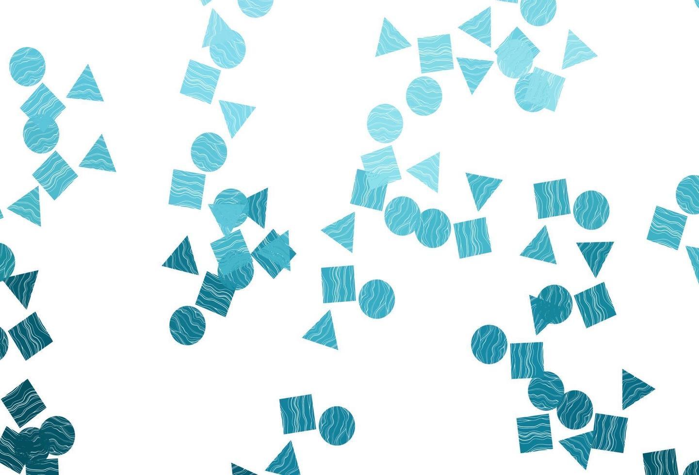 fundo vector azul claro com triângulos, círculos, cubos.