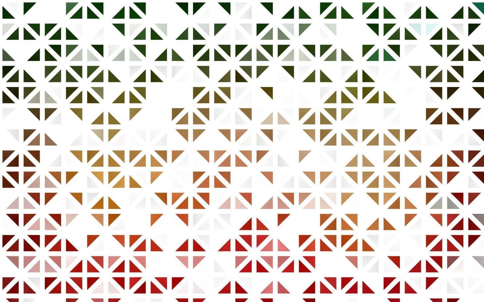 layout sem emenda de vetor verde e vermelho claro com linhas, triângulos.