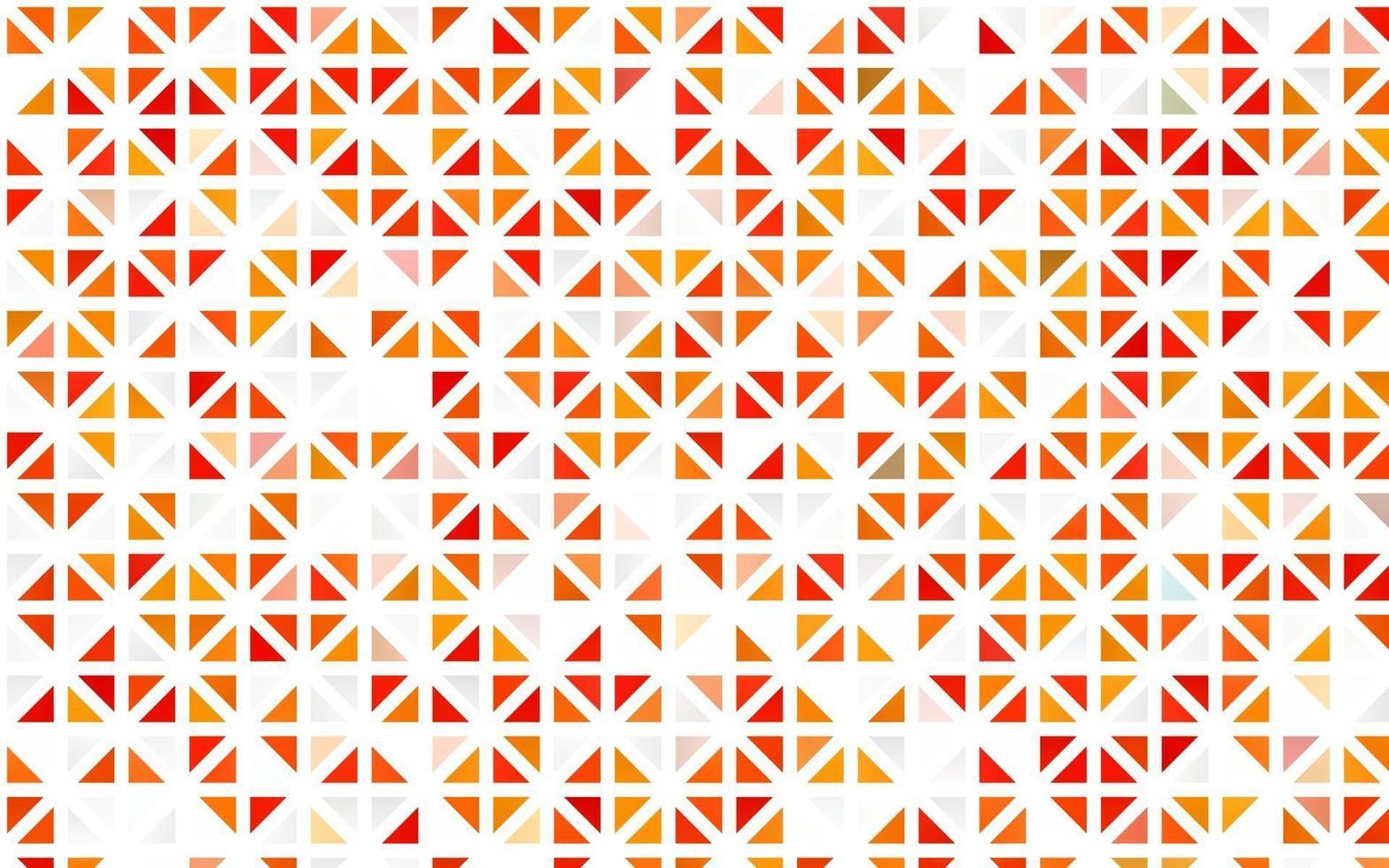 pano de fundo sem emenda do vetor laranja claro com linhas, triângulos.