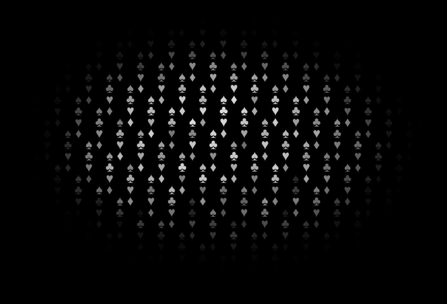 modelo de vetor cinza escuro, prata com símbolos de pôquer.