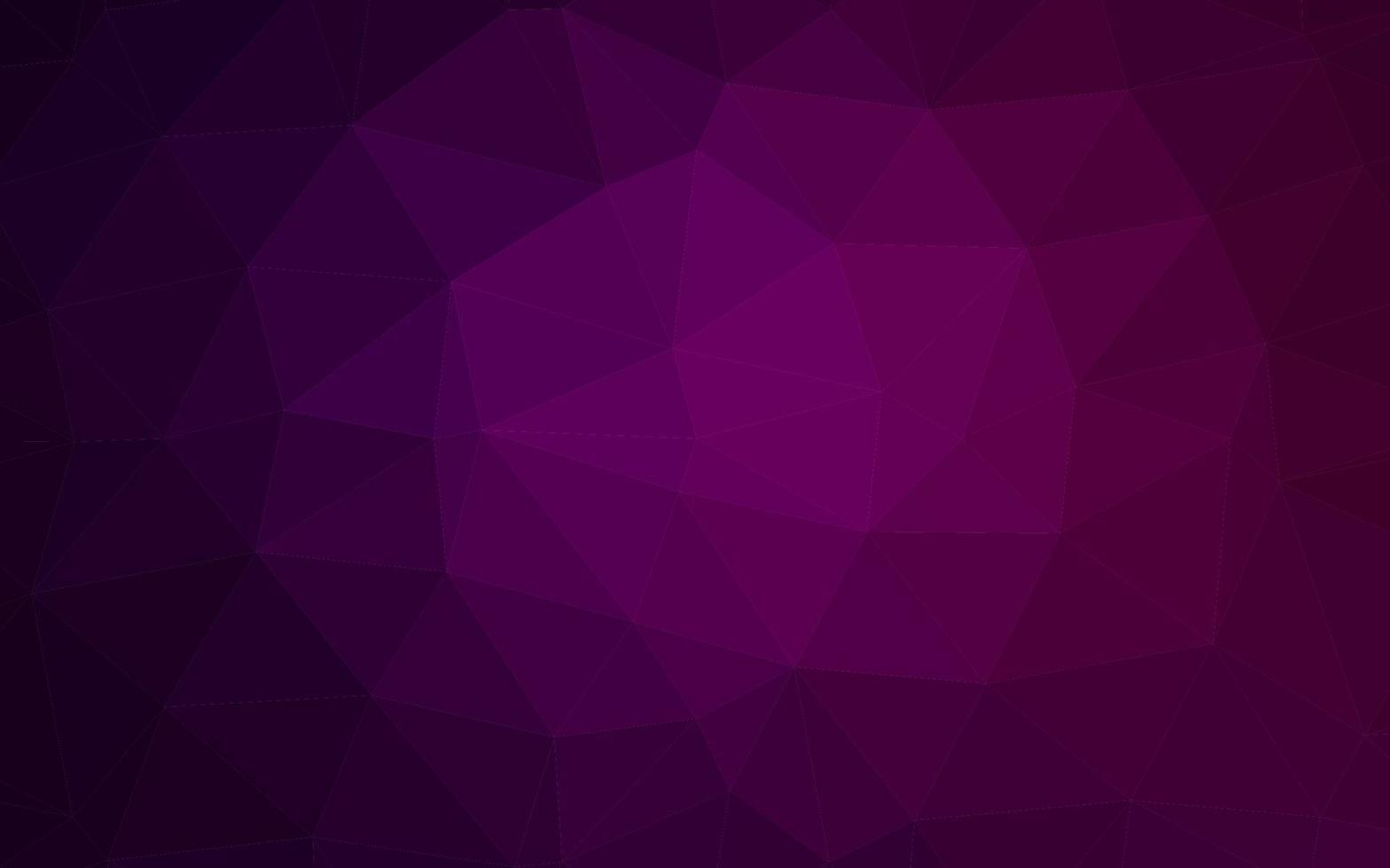 modelo de mosaico de triângulo de vetor roxo escuro.