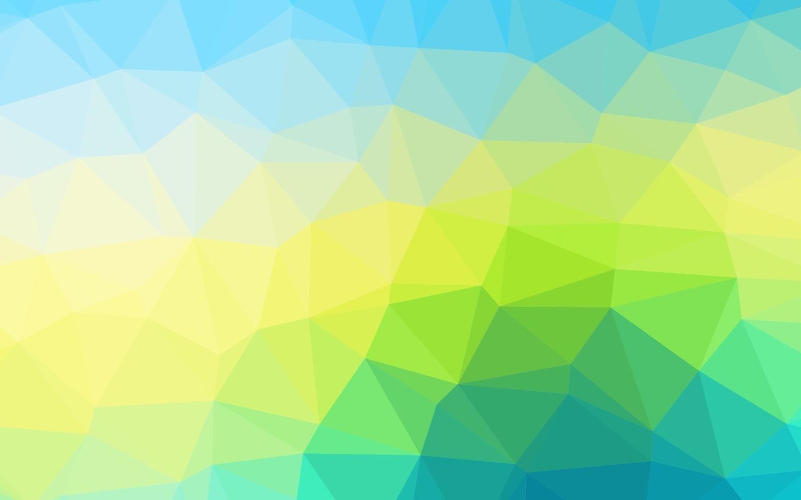 capa de poli baixa de vetor azul claro e amarelo.