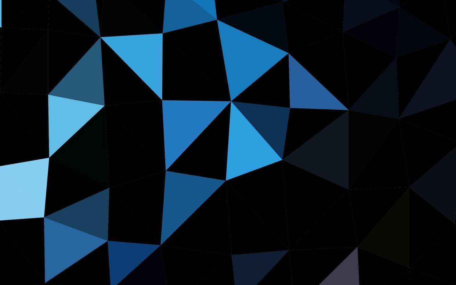 layout de baixo poli de vetor azul escuro.