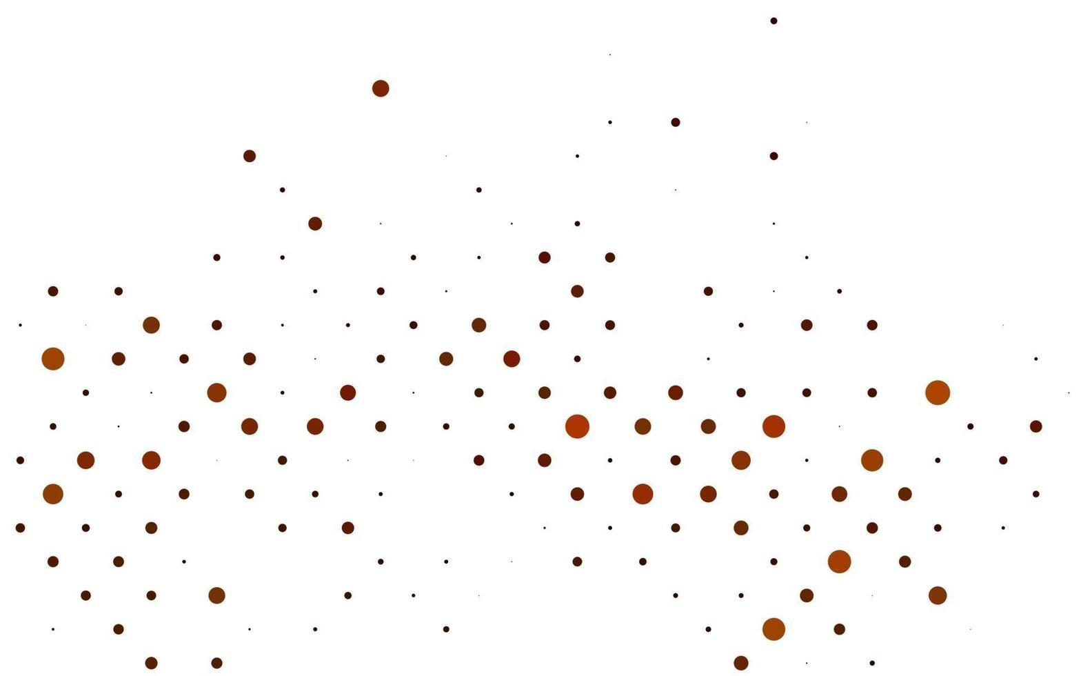 layout de vetor amarelo e laranja claro com formas de círculo.