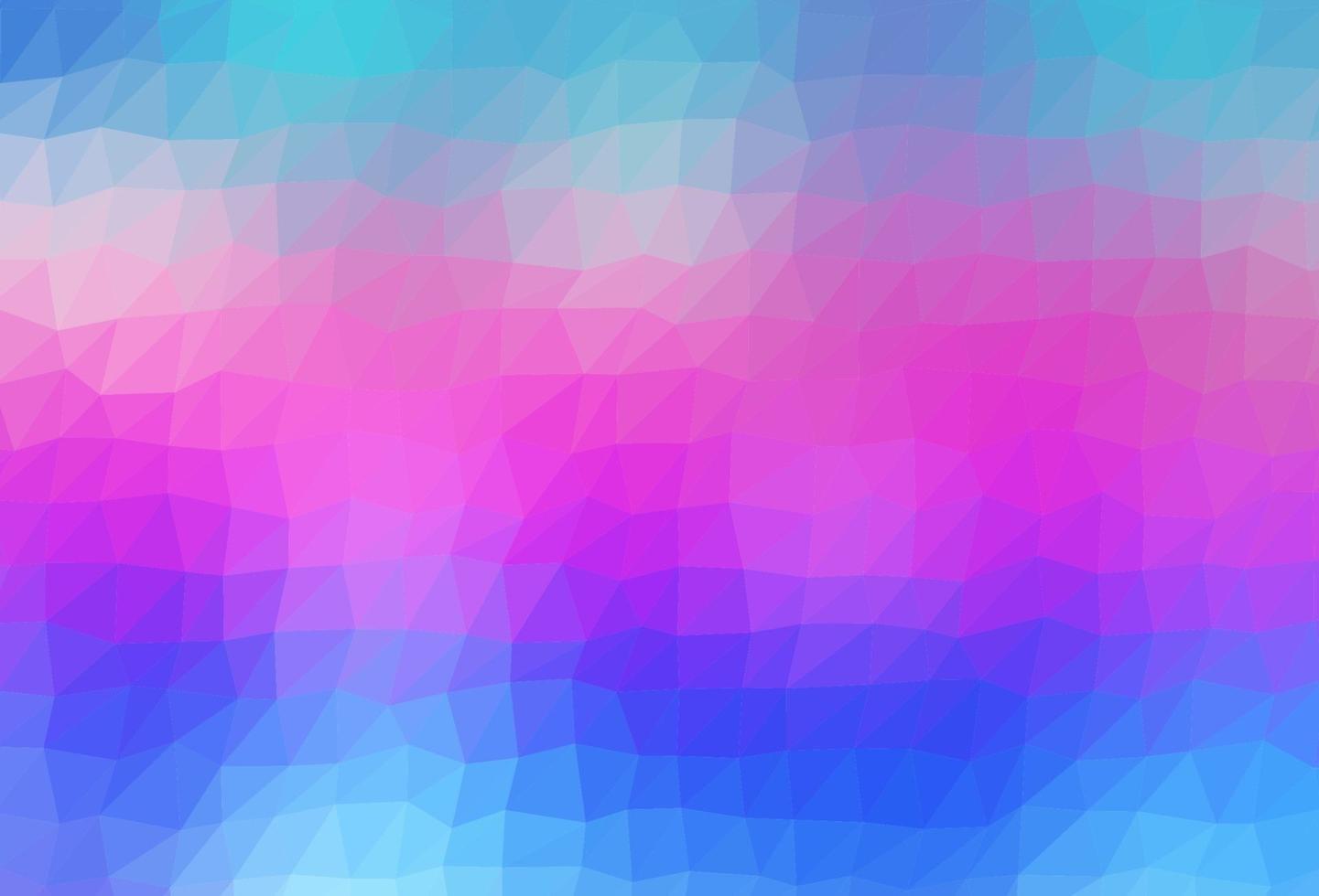 luz multicolor, vetor de arco-íris brilhando com fundo triangular.