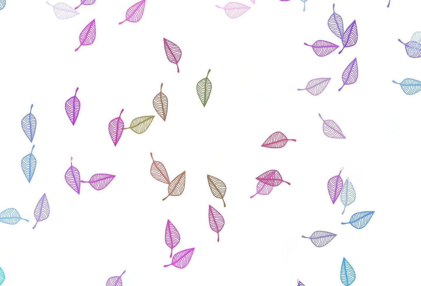 luz multicolor, capa de doodle de vetor de arco-íris.
