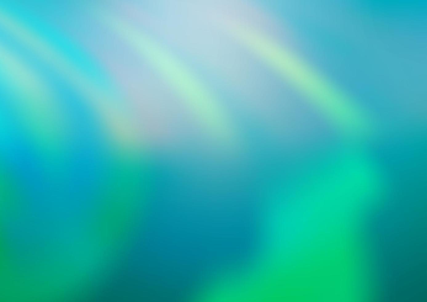 luz azul, verde vetor turva modelo brilhante.
