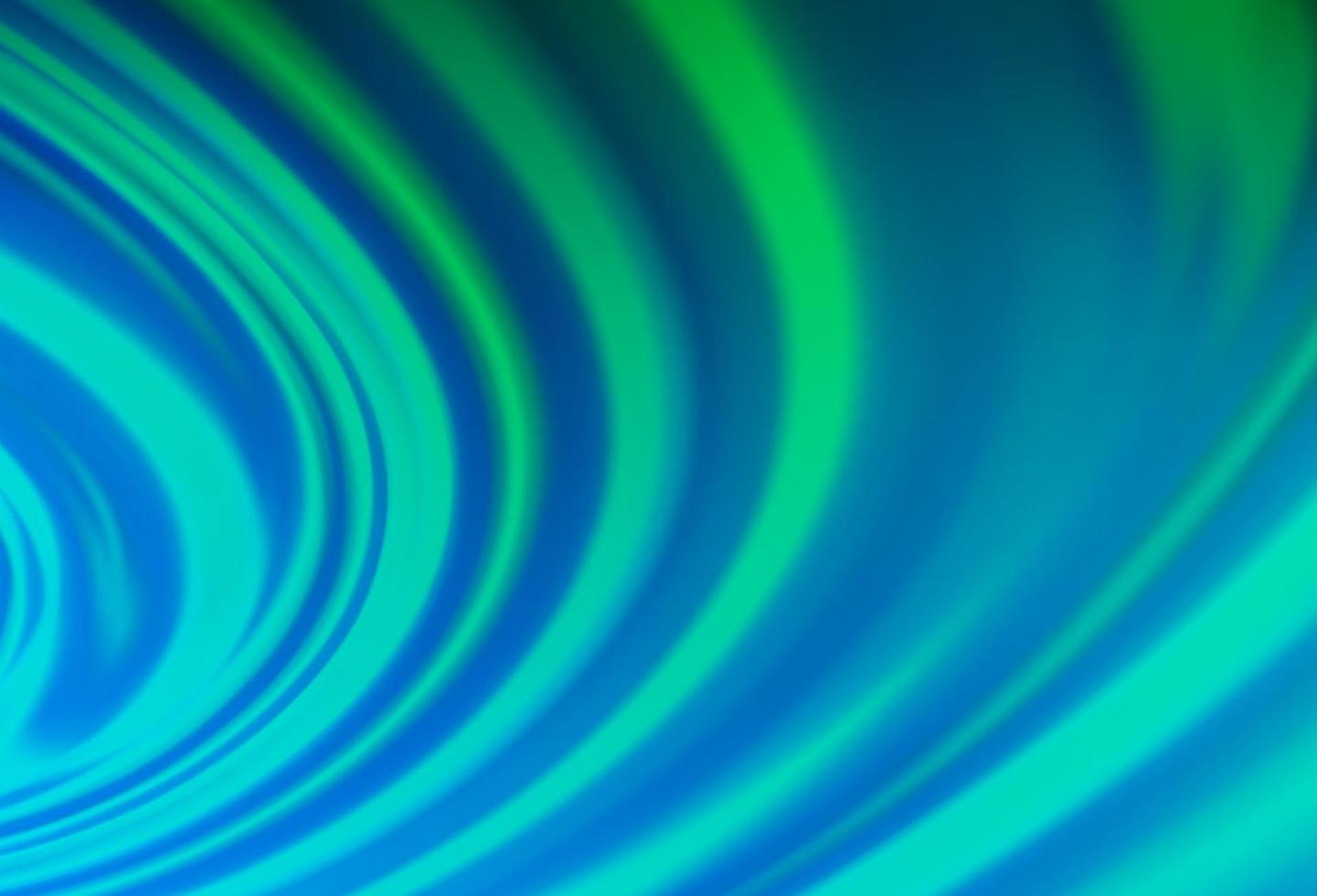 padrão de vetor azul e verde claro com linhas ovais.