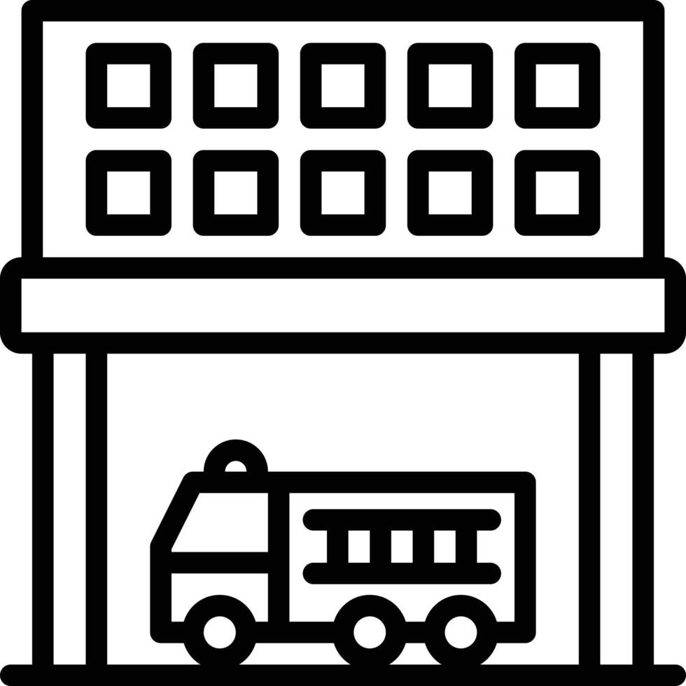 ícone de linha para departamento vetor