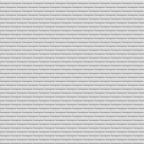 Parede de tijolos brancos, ilustração vetorial vetor