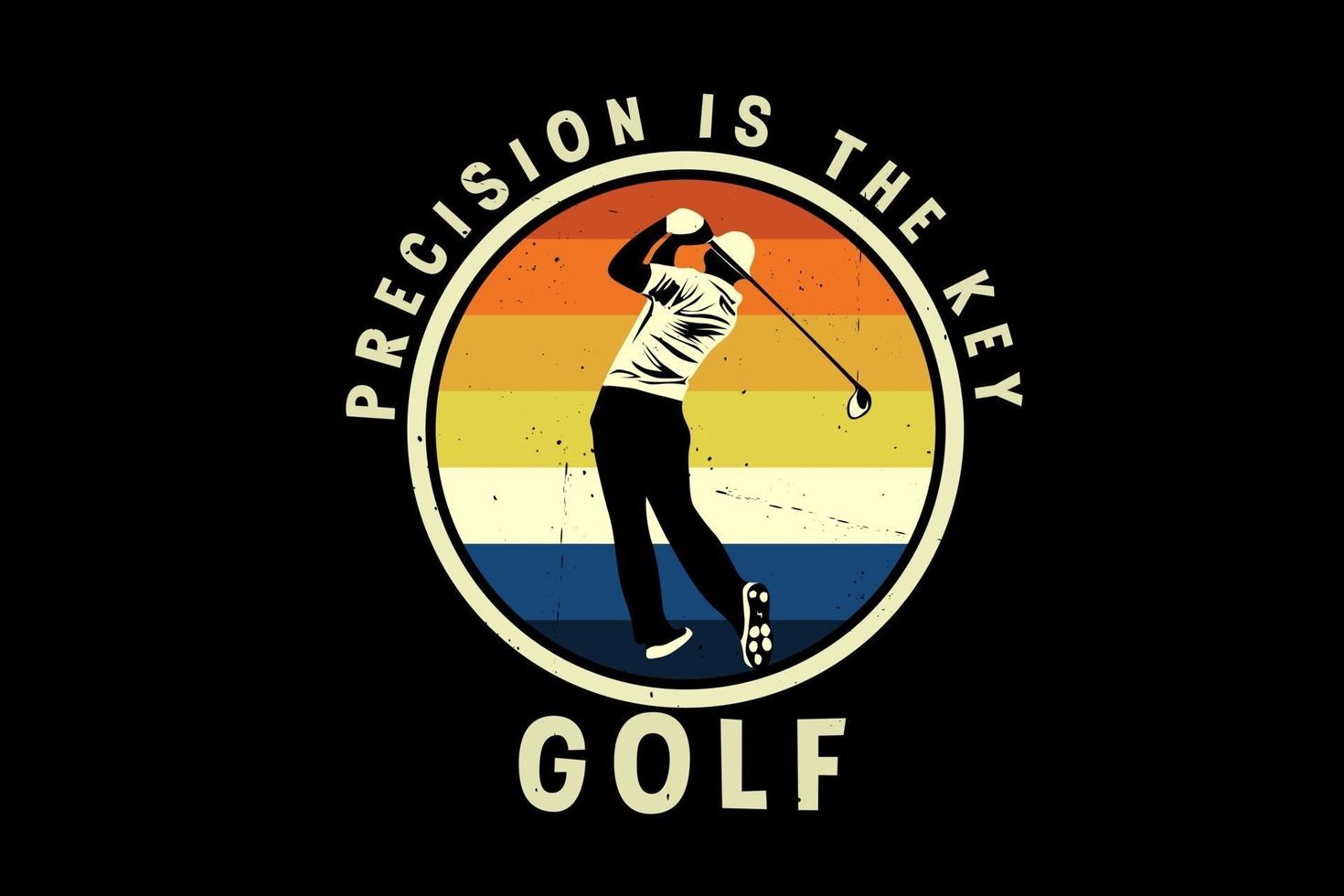 design de silhueta de precisão de golfe vetor