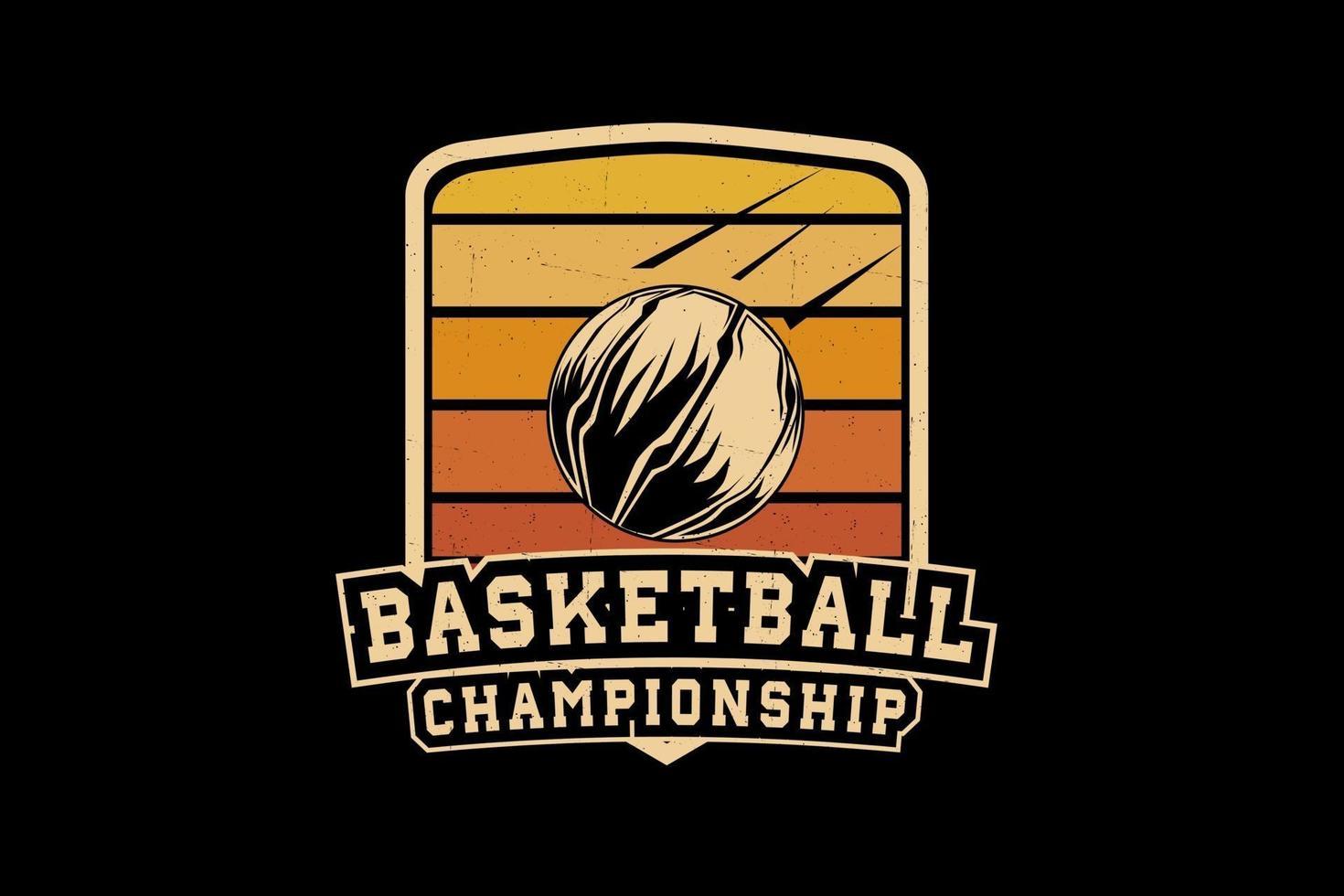 design da silhueta do campeonato de basquete vetor