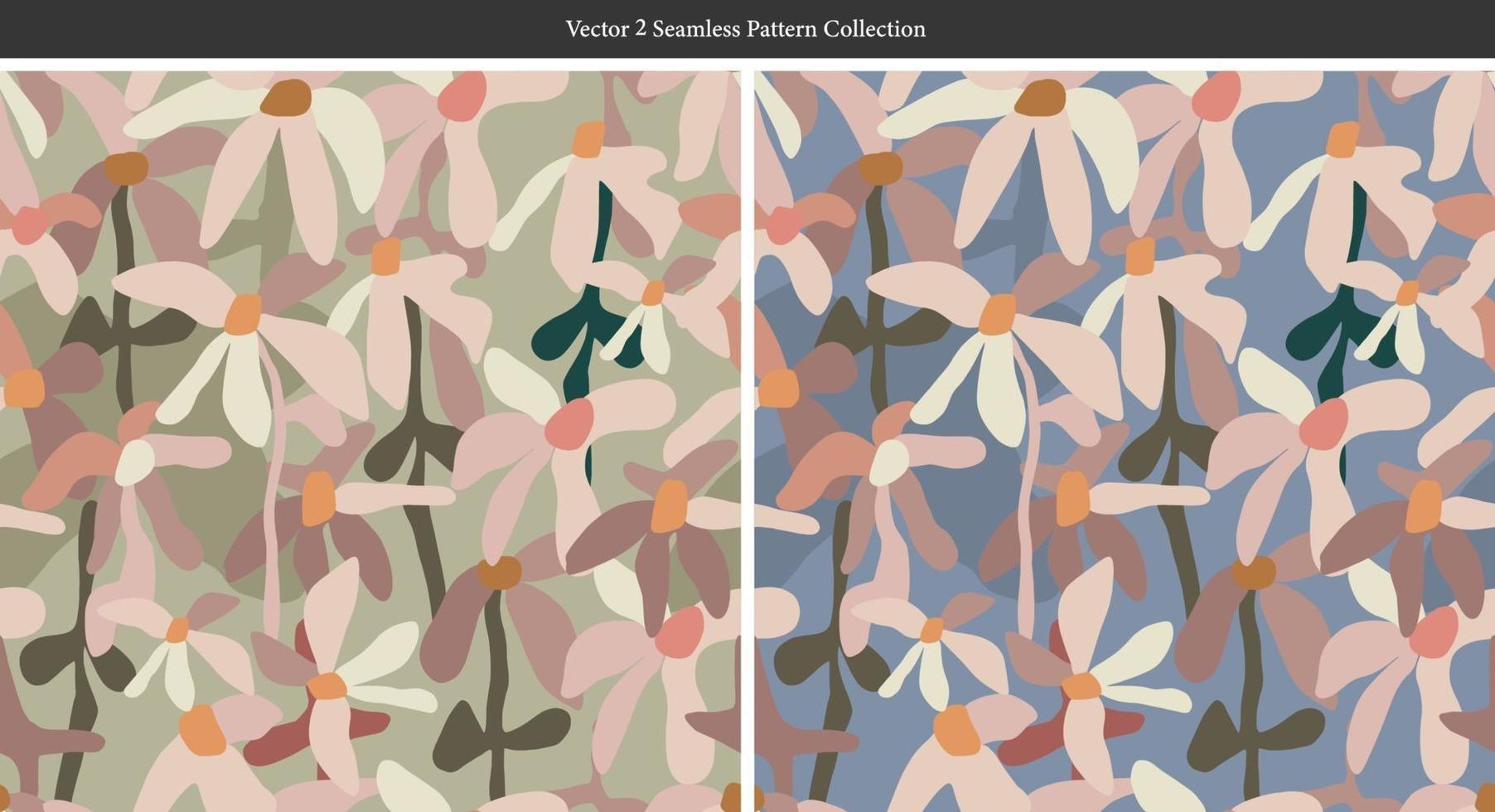 vetor moderno abstrato flor ilustração padrão sem emenda