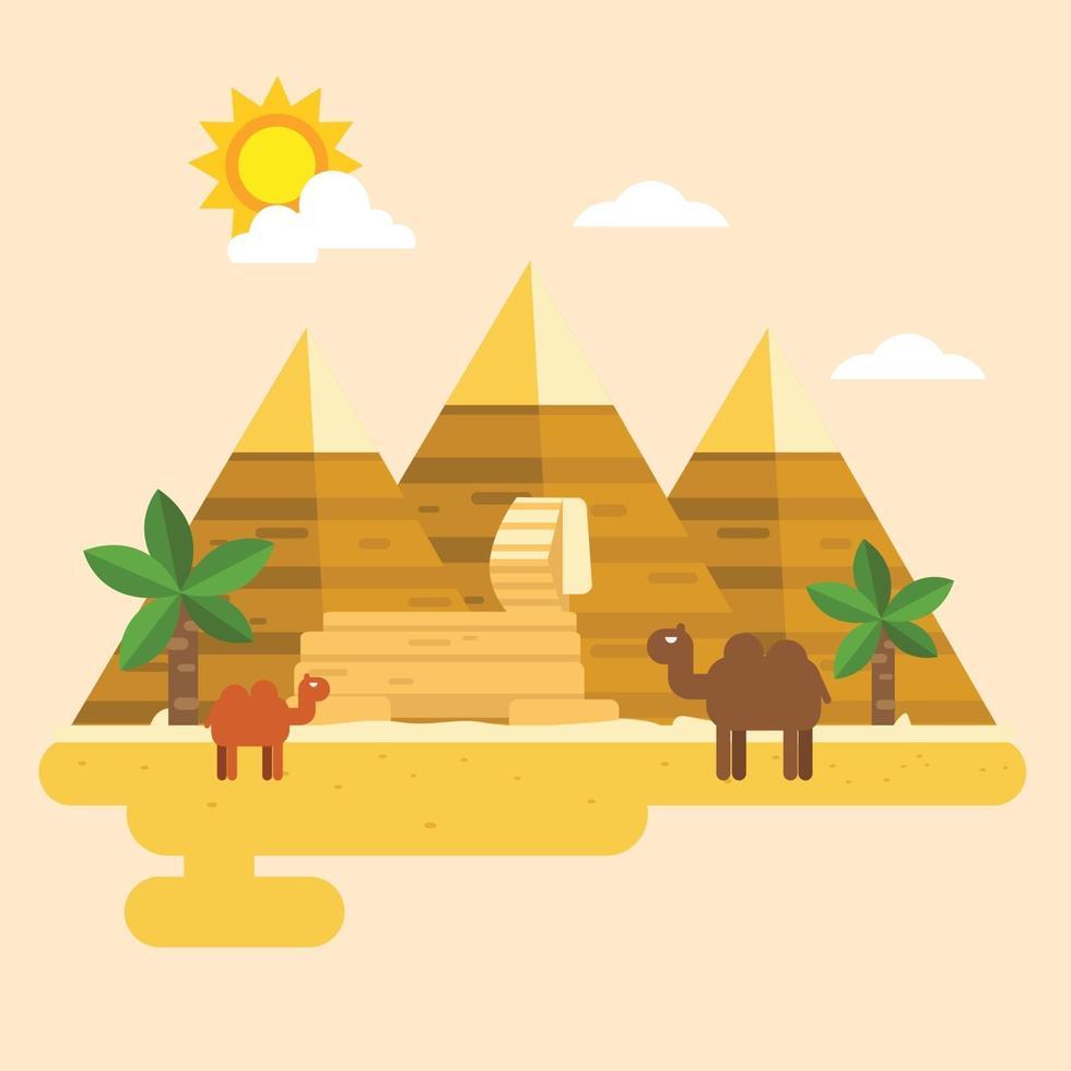 vetor egito e pirâmide
