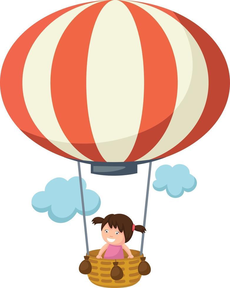 crianças em um vetor de balão