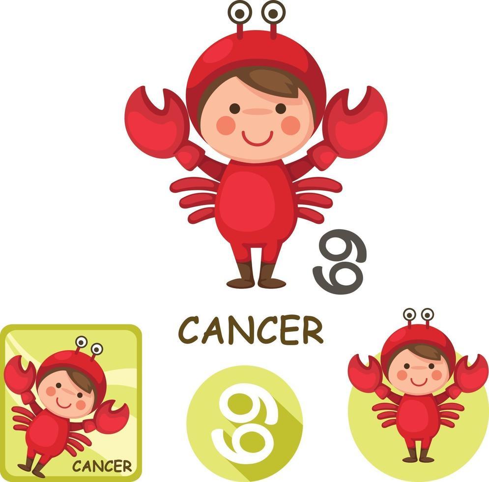 coleção de vetores de câncer. signos do zodíaco