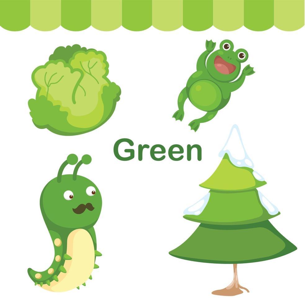 ilustração do grupo verde de cor isolada vetor