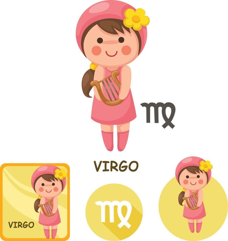 coleção de vetores de virgem. signos do zodíaco