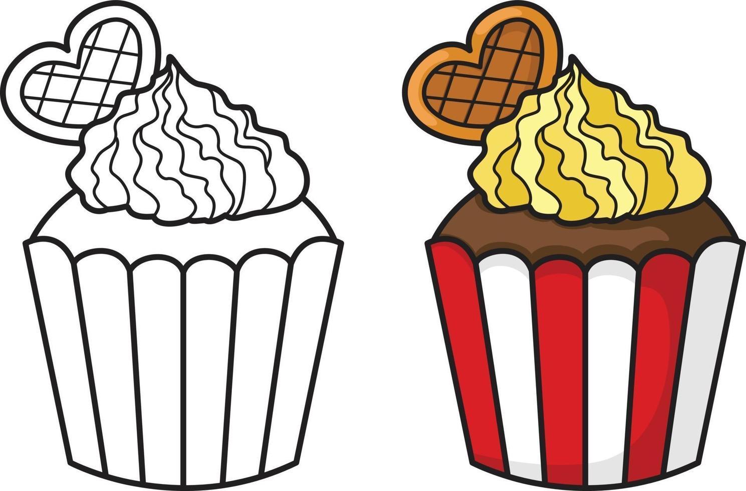 vetor de dois cupcakes
