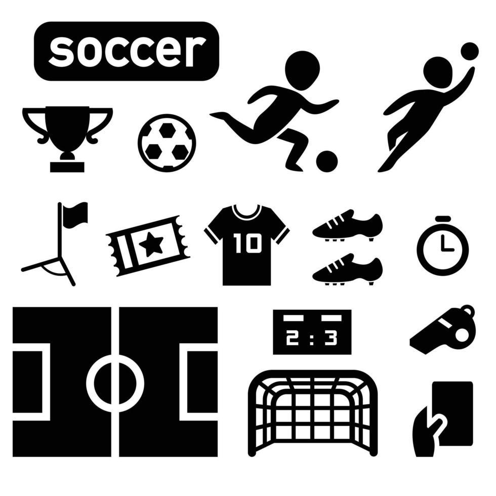 ícone de jogador de futebol de futebol isolado vetor