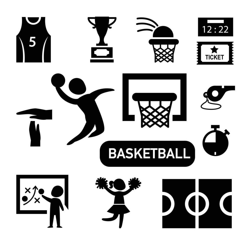 ícone de basquete isolado vetor