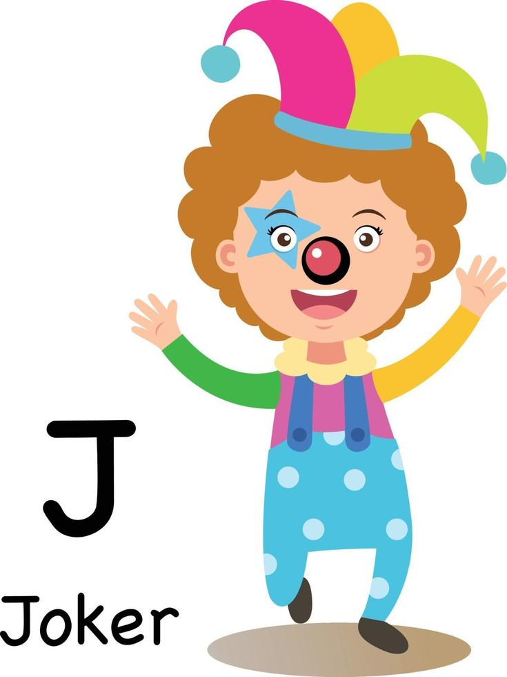 letra do alfabeto j-joker, vetor